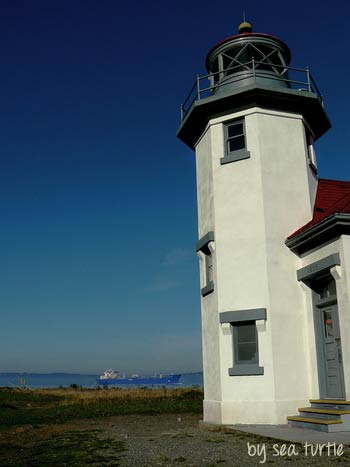 Pt Robinson Lighthouse on Vashon Island by Sea Turtle via Flickr Creative Commons