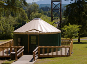A yurt in King County's Tolt MacDonald Park
