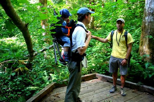 On a hike at NCI Base Camp