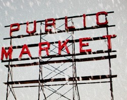 Pike Place Market in the Snow