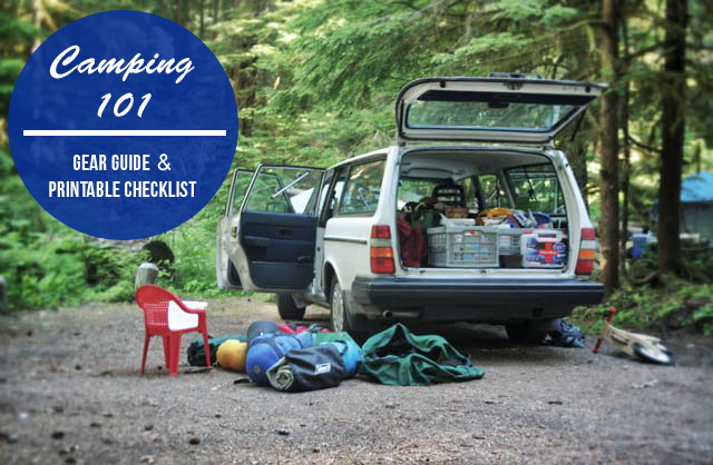 Camping Gear Guide and Packing List + a Printable Checklist