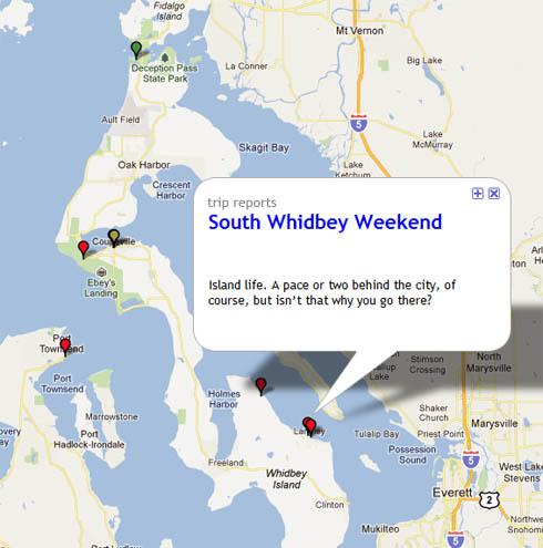 View of map on Northwest TripFinder