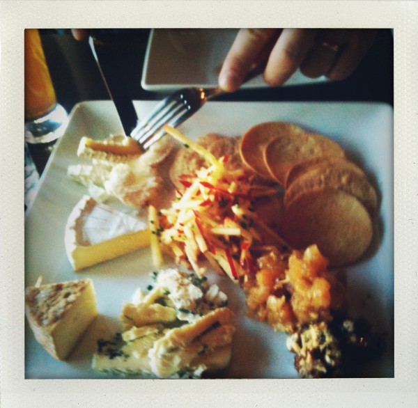 The cheeseboard at Blackboard Bistro