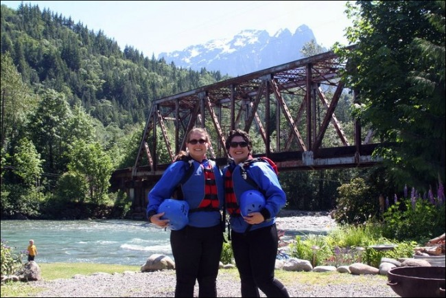 Getting ready for the rafting trip down the Skykomish River