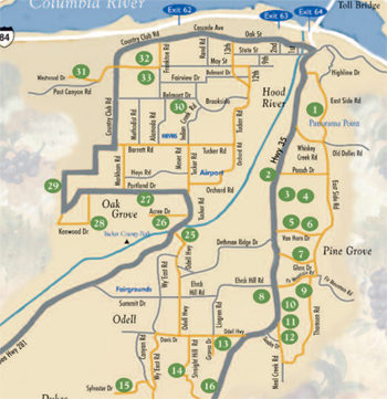 Hood River Fruit Loop Map