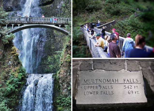 Multnomah Falls Portland is just outside of Portland, Oregon.
