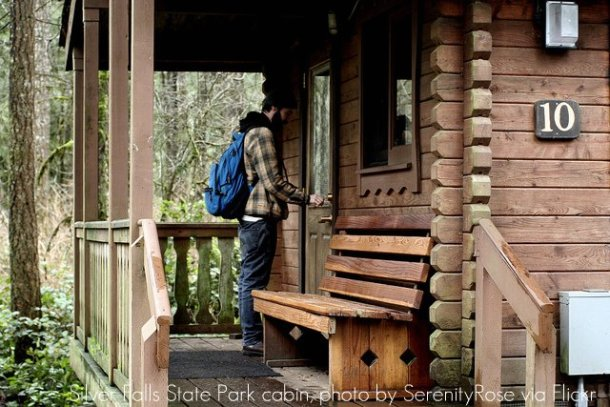 Silver Falls Rustic Cabin #10, photo by SerenityRose via Flickr Creative Commons