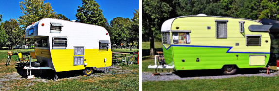 Vintage Campers To Daydream About