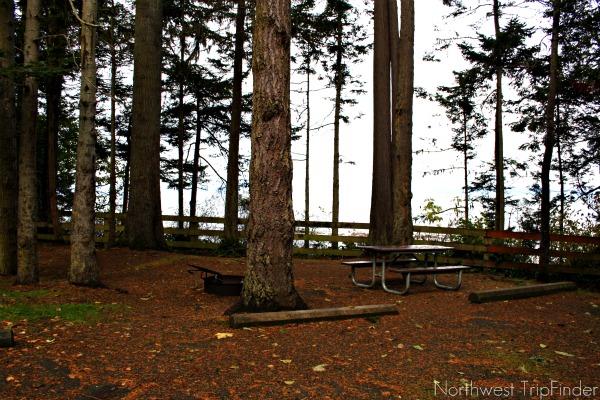 Salt Creek Recreation Area Campground View Campsite on Bluff