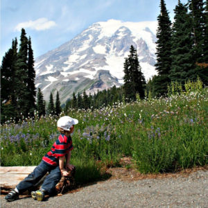 Little Hiker at Mount Rainier