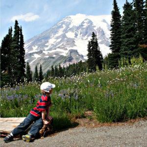 Little Hiker at Mount Rainier