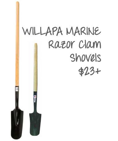 Clamming shovel