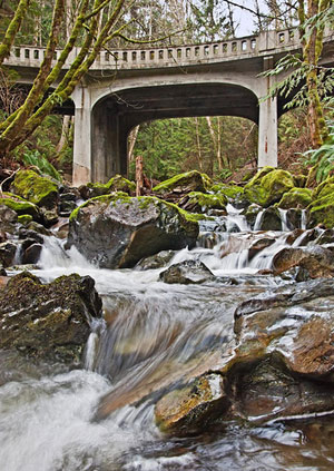 Chuckanut Drive bridging Oyster Creek by Rich Murphy