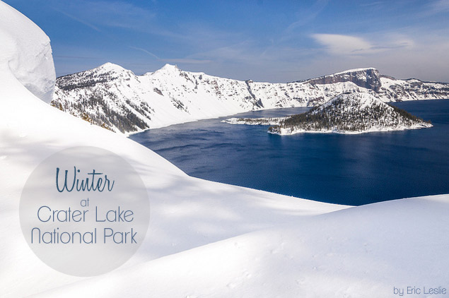 Winter at Crater Lake National Park, Oregon