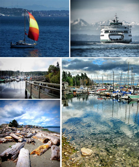 Bainbridge Island collage