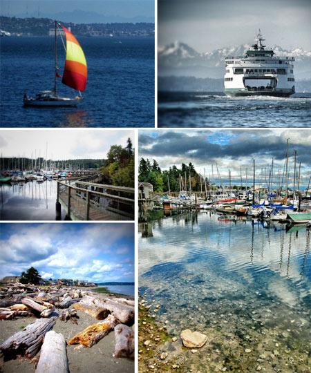 Bainbridge Island collage