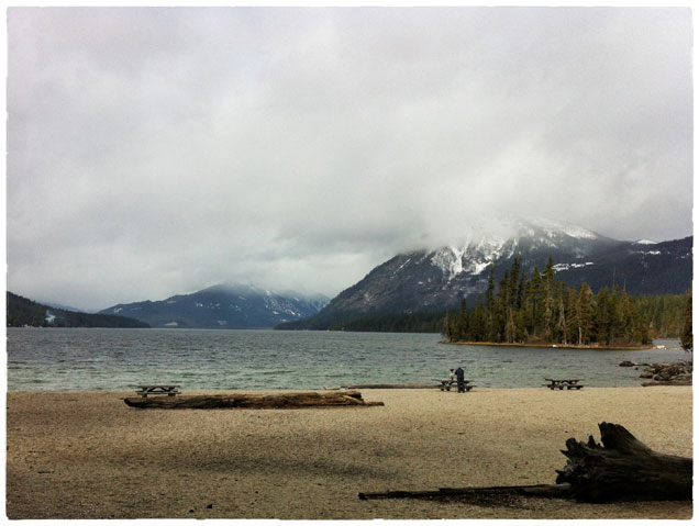 Lake Wenatchee from the State Park Beach