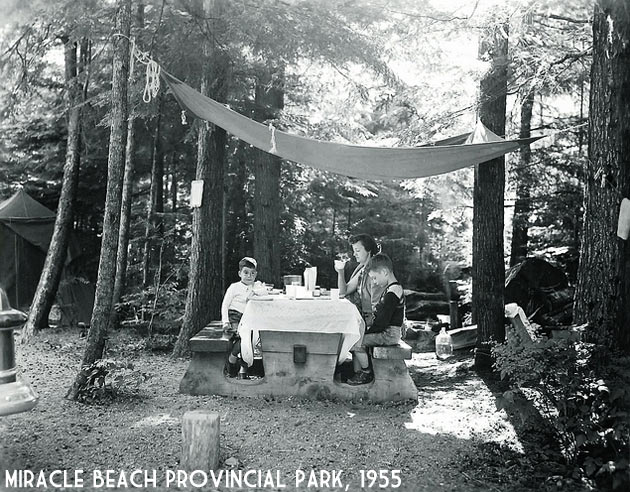 Miracle Beach Provincial Park family camping in 1955