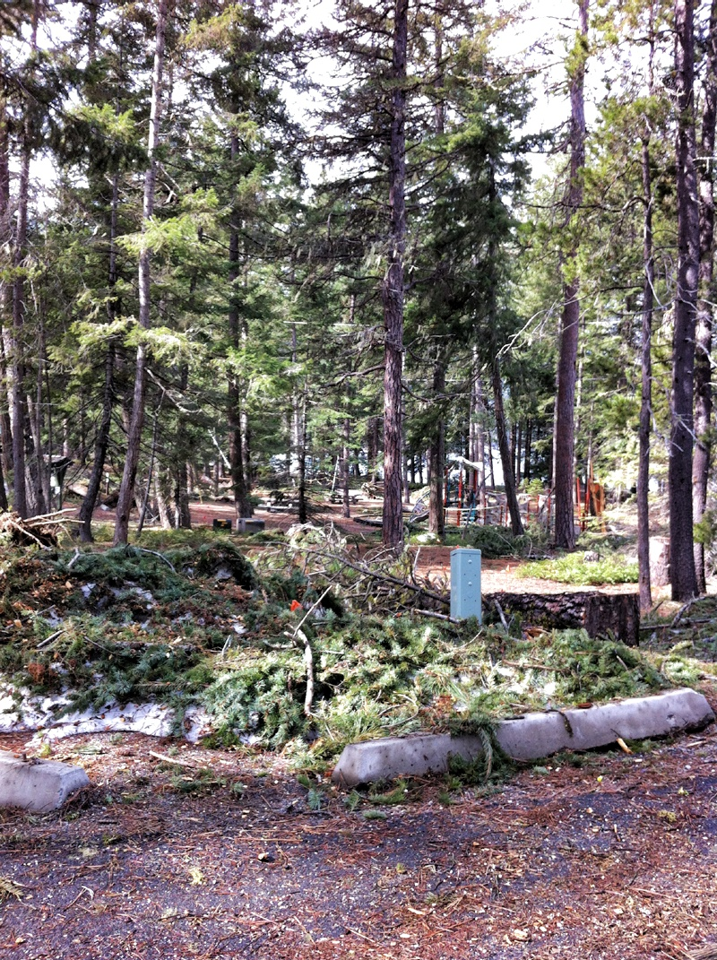 storm damage lake wenatchee