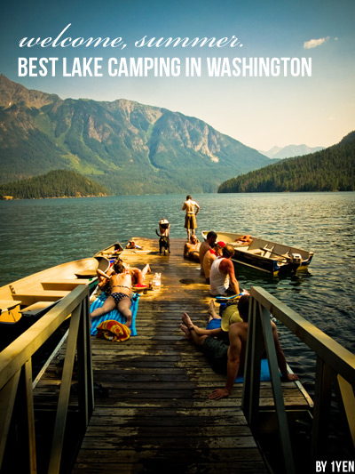 Best Lake Camping in Washington  -  Top picks for places to pitch your tent beside a lake in Washington state.