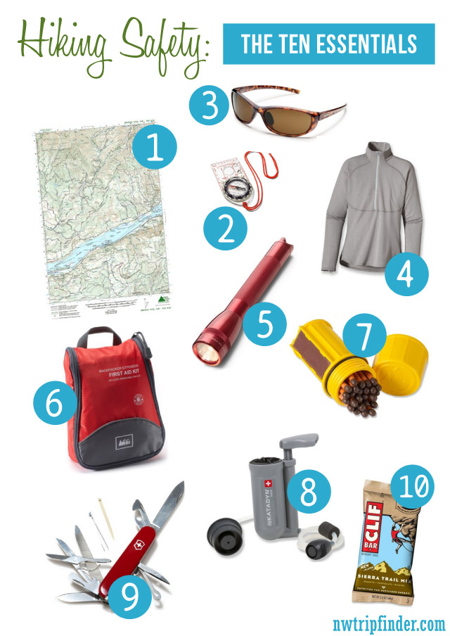 The Ten Essentials And Hiking Safety Tips Northwest