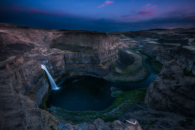 Camping near Tri-Cities | Palouse Falls by Howard Ignatious