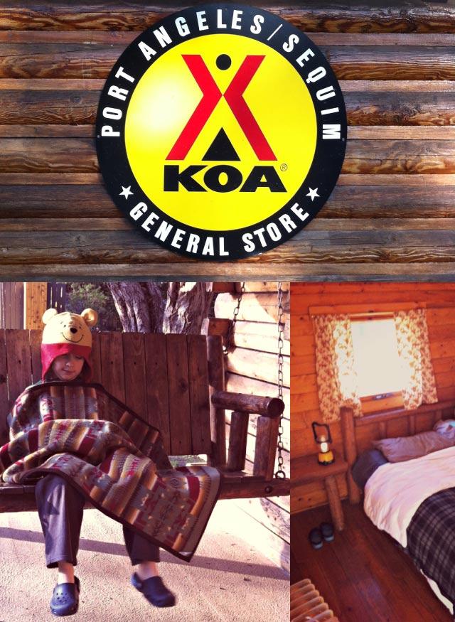 Olympic Peninsula Weekend to the KOA Cabins